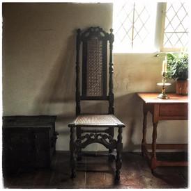 English Cane Chair – 17th century