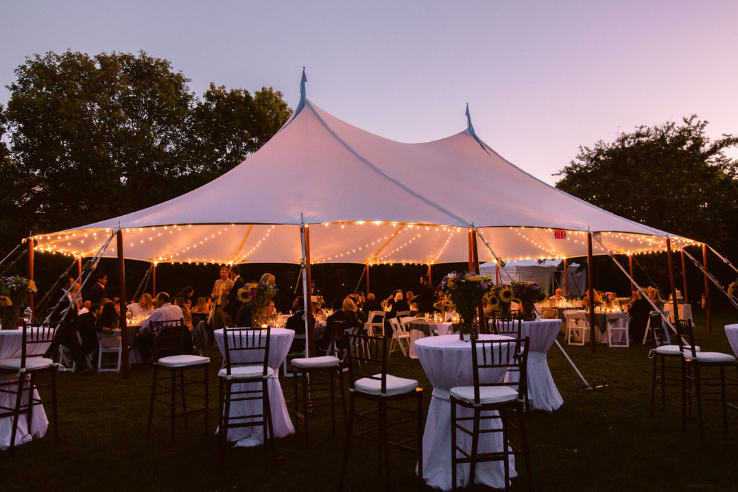 Evening party under tent