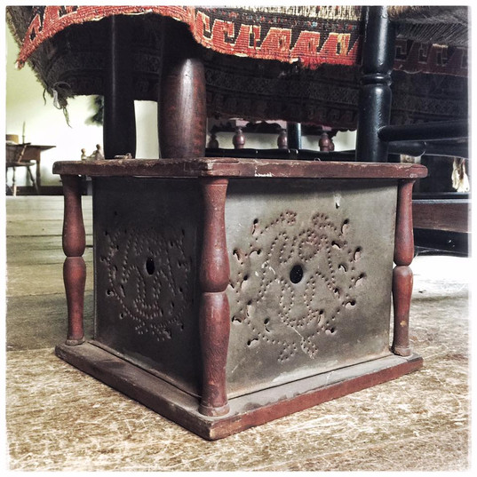 Colonial Foot Stove with Embers Box