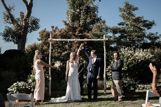 Ceremony by garden