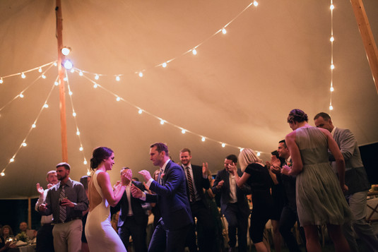 Party under tent