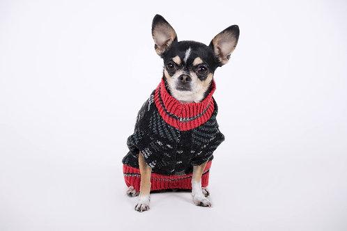 sweaters negro rojo