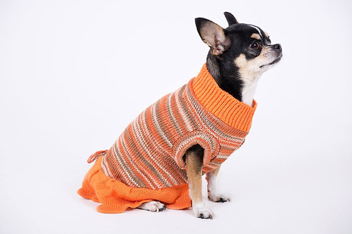 sweaters naranjo con faldón