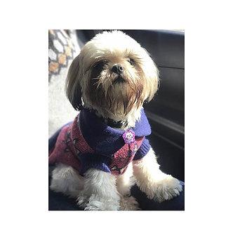 sweaters morado cuello redondo