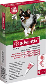 Advantix Antiparasitario Ext. 10 a 25 Kg