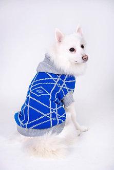 sweaters azul con gorro