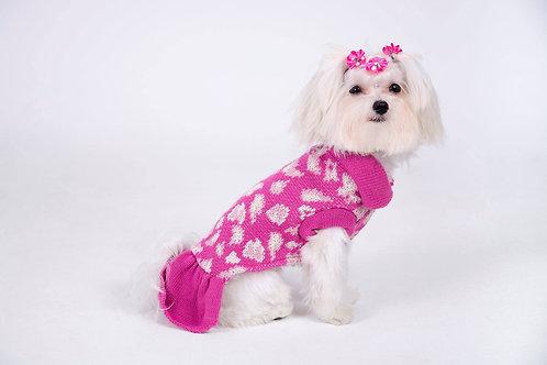 sweaters rosado con faldón
