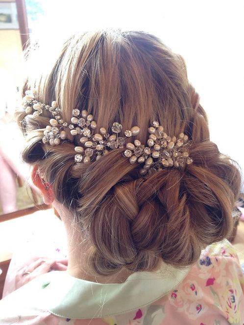 Pearl & Rhinestone Bridal hair vine