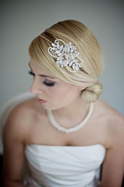 Fauna pearl and rhinestone headband