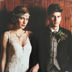 Art Deco inspired! Our Minerva tiara is featured in the current issue of _swdmagazine out now! #scot
