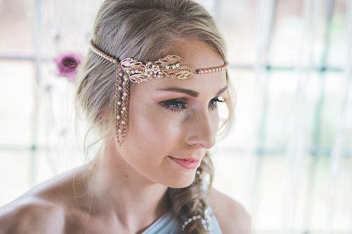 Summer Haze Rose gold bridal head chain