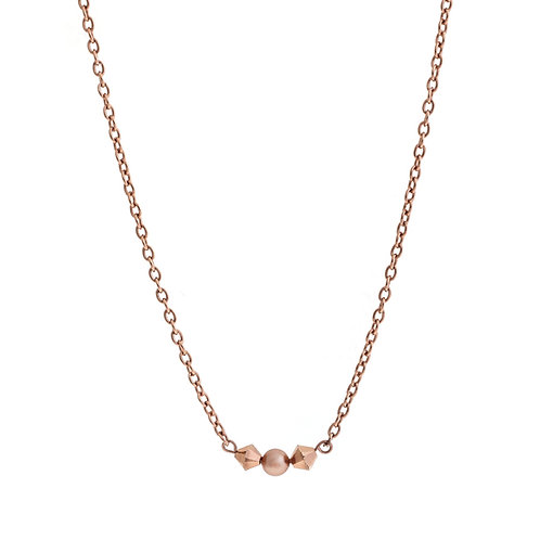 Purity III Bridal Necklace Rose Gold Silver Sw