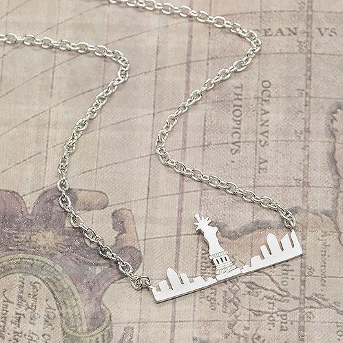 Honeymoon / Engagement New York Skyline necklace