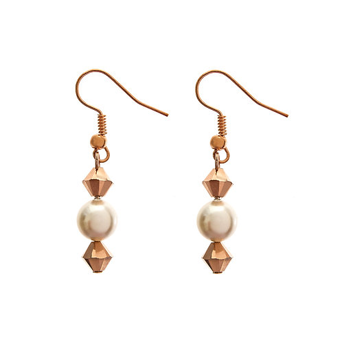 Purity Bridal Earrings Swarovski pearls