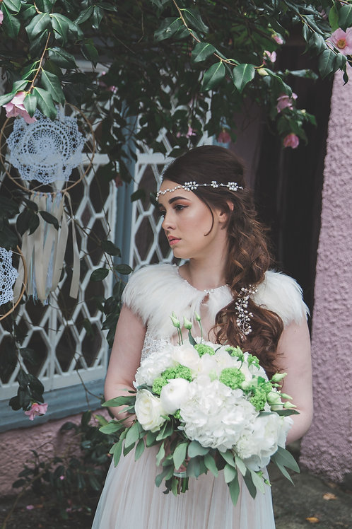 Pearla bridal hair vine halo browband