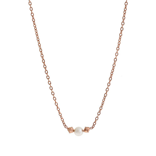 Purity Bridal Necklace Rose Gold Silver Swarovski