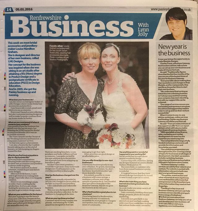 Business is 7 years old today and a nice little feature in the local newspaper too! #businesswoman #