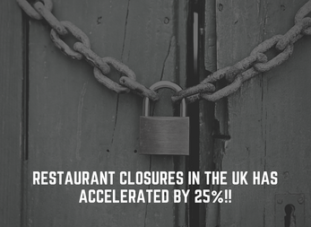 Restaurant closures in the UK has accelerated by 25%!!