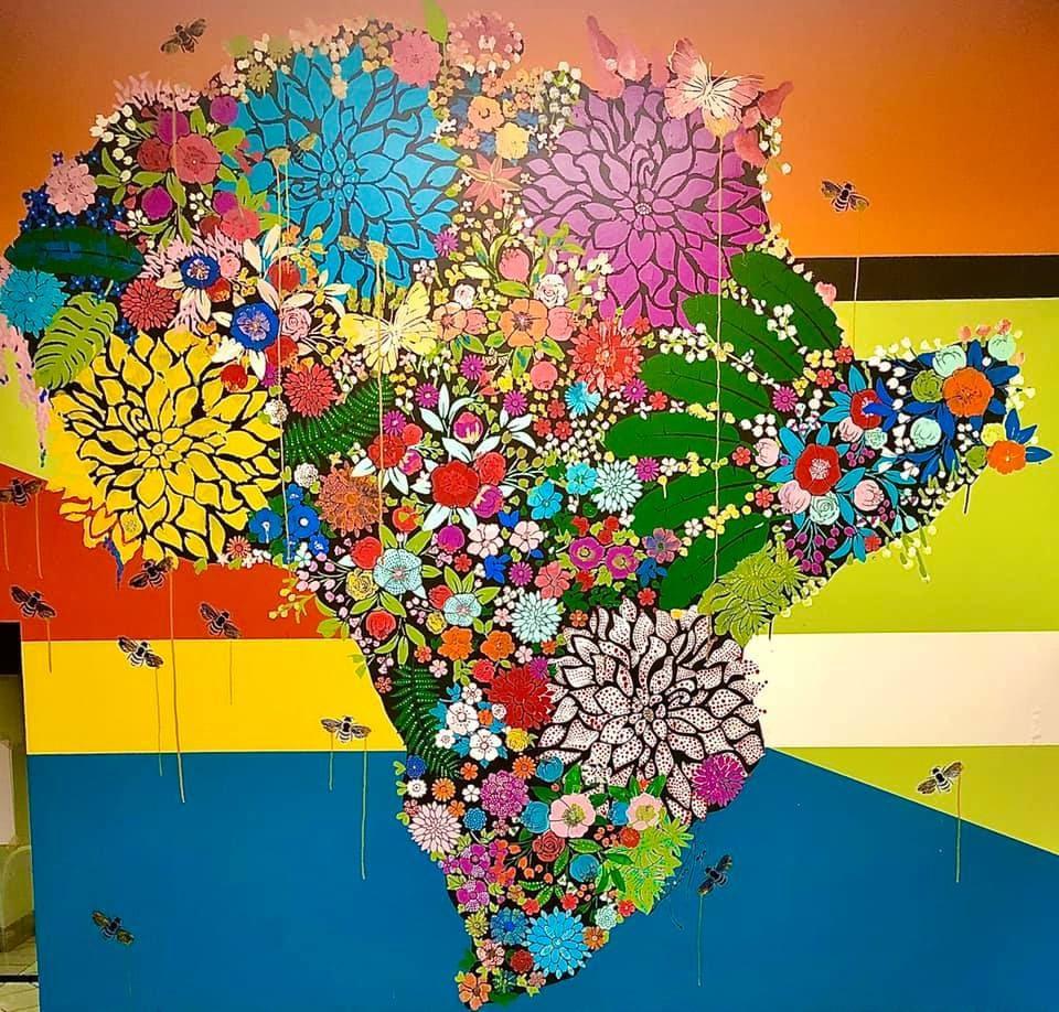 Afro Deli Minneapolis Mural Artist: Ariane Zager, Minneapolis, Minnesota