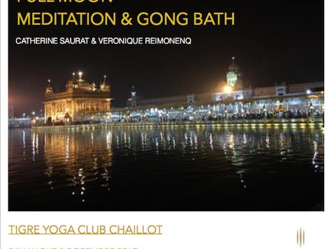 Full Moon Meditation & Gong Bath w/ Catherine Saurat