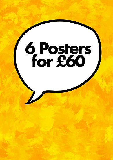 All 6 posters for a discount price