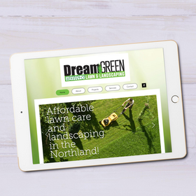 DreamGreenLandscaping.com Tablet