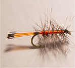Orange Palmer , Dry Fly, Smoky Mountain, Southern Appalachian Fly Fishing Flies