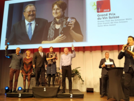 1. platz am grand prix du vin suisse