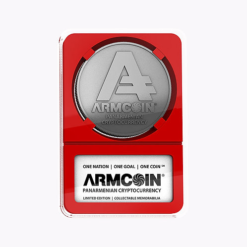 Armcoin | Silver Finish | Red Tray