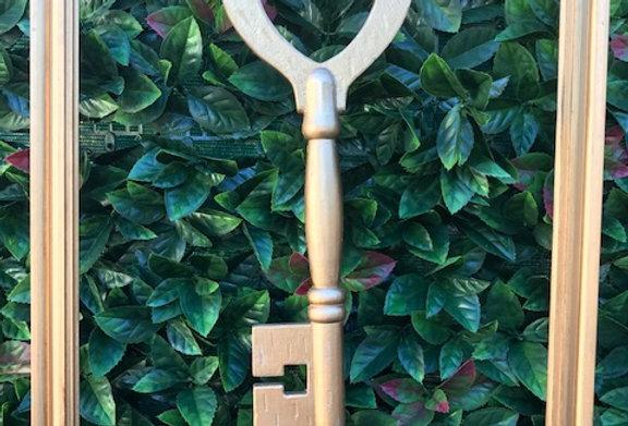 Framed Gold Key