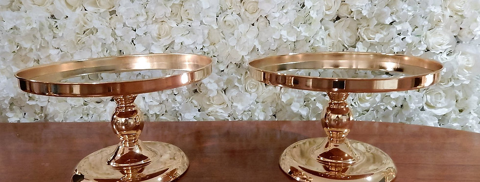 Gold metal cake stand 30.5 cm