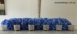 Blue floral runner