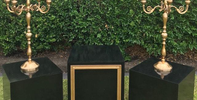 Black Plinths,Set of 3