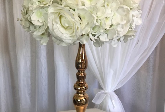 Gold Stand With Floral Arrangement Mimi