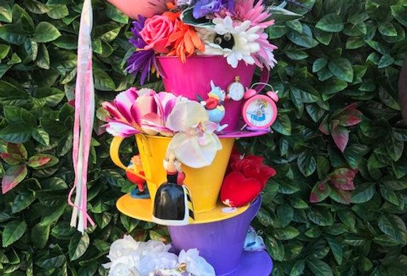 Tea cup table centerpiece