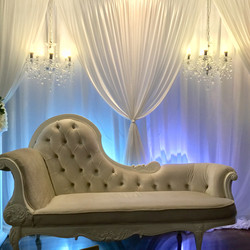 Bridal room backdrop