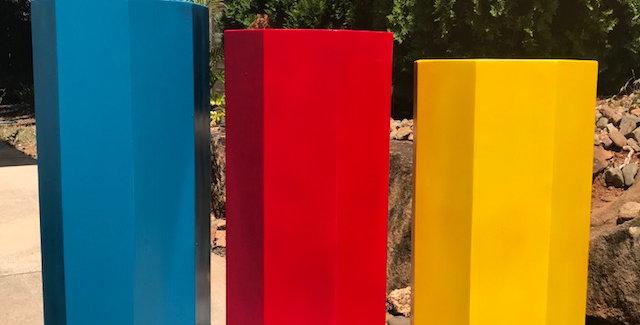 Blue,Red, Yellow Plinths