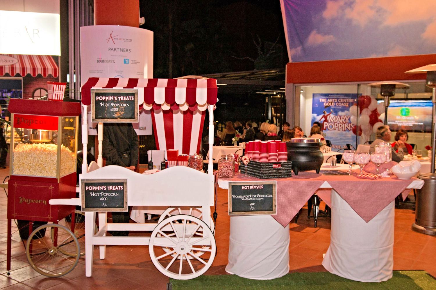 Lolly cart at Mary Poppins premiere