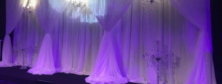3 D   White Backdrop Snow White 6m by 3m