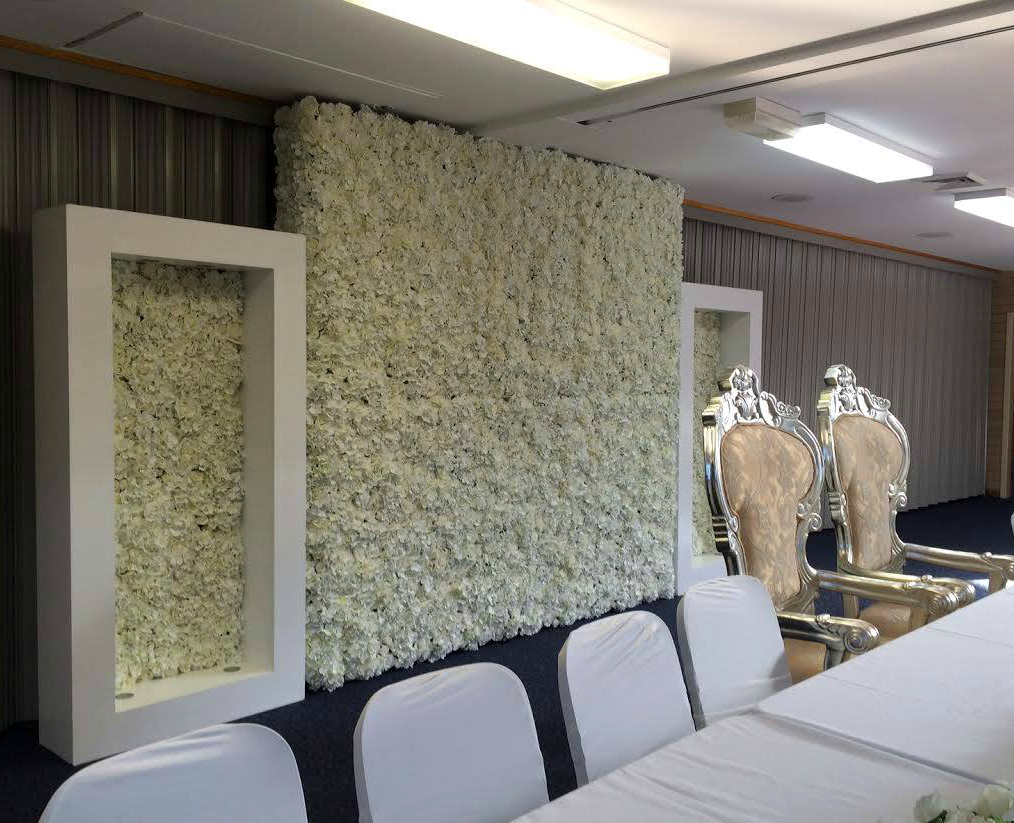floral wall hire