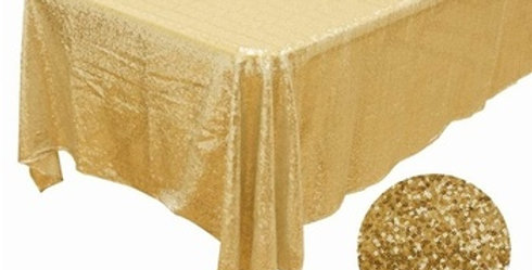 Sequin Rectangle Gold Tablecloth
