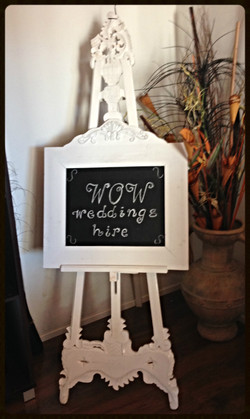Easel with matching Blackboard