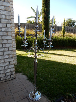 9 arm silver chandelier