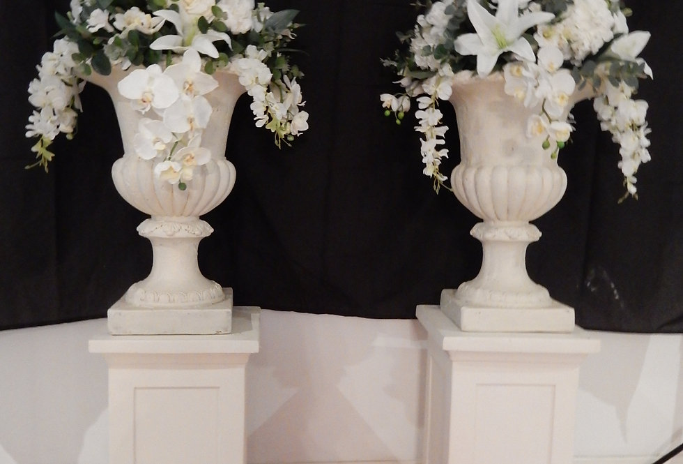 Pedestal and Urn with Flower arrangement Grace