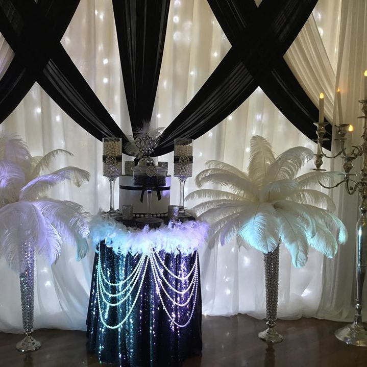 Gatsby Backdrop with fairy lights