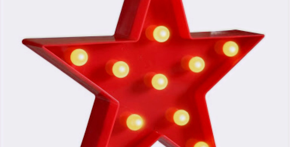Red Star with Lights