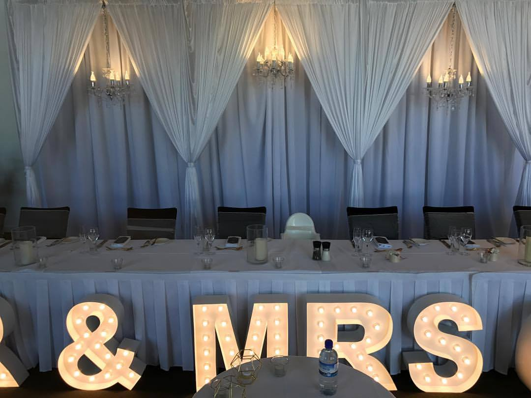 3 D Bridal table backdrop