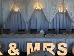 3 D Bridal table backdrop