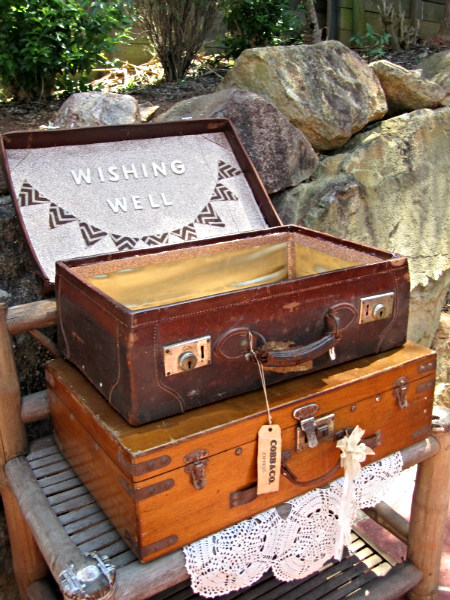 Leather wishing well