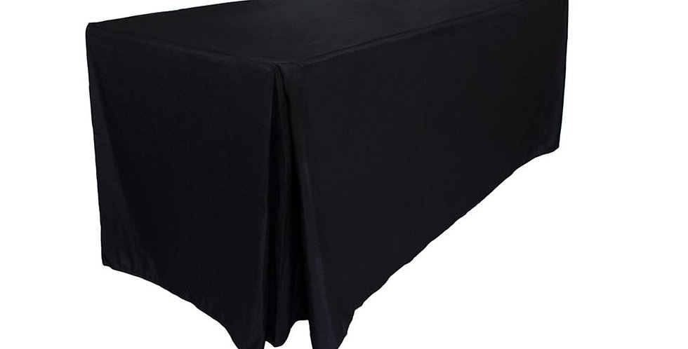 Fitted  Rectangle Black Tablecloth